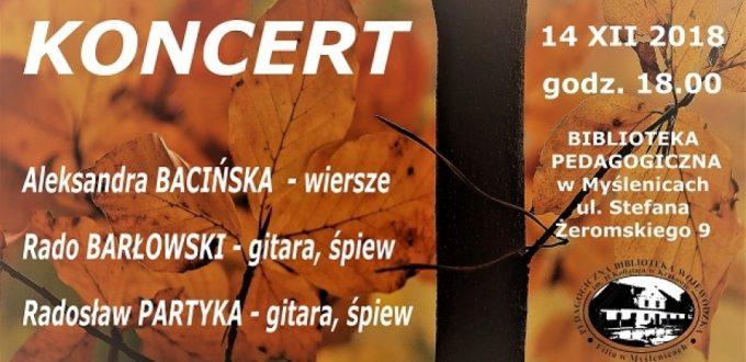 plakat zapraszający na koncert Rado Barłowskiego